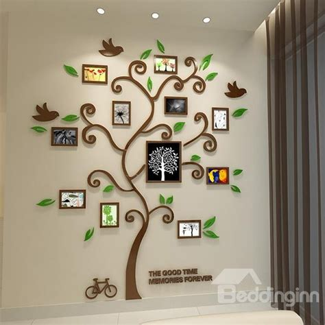3d stickers for walls fantastic family tree pattern photo frame 3d wall sticker