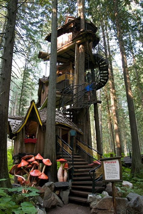 three story tree house the enchanted forest revelstoke
