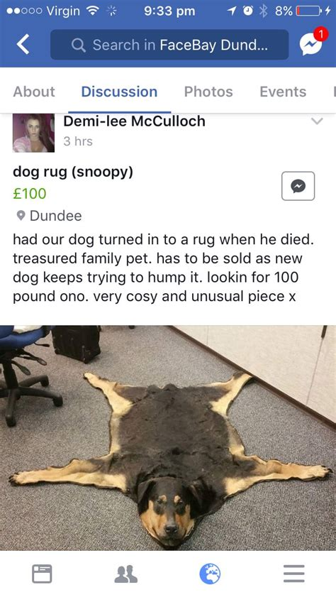 dogs rug someone has turned their dead family into a rug and is selling it because the quot new keeps