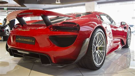 porsche 918 red red porsche 918 spyder weissach even stands out in dubai