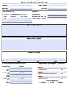 company write up template employee write up forms pdf