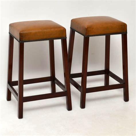 mahogany bar stools uk pair of antique leather mahogany bar stools marylebone