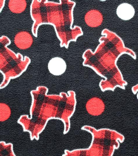 fabric crafts for dogs anti pill fleece fabric plaid scottie dogs scottie mania