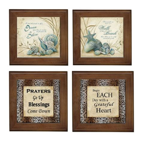 home and decor tile beach prayers ceramic framed home decor tile decorative