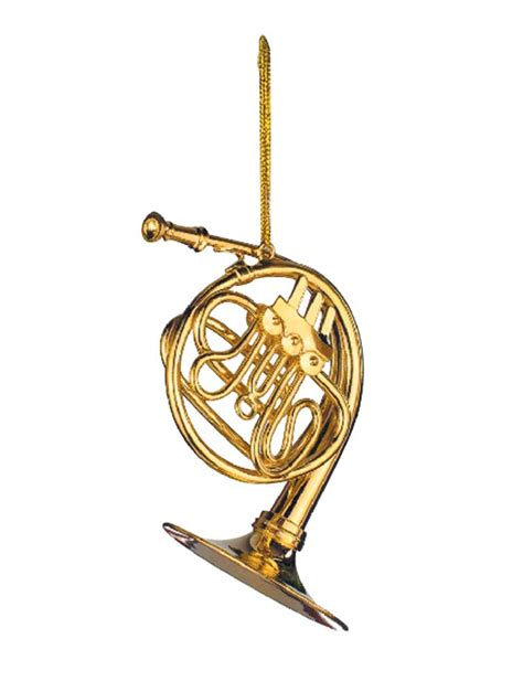buy gold french horn christmas ornament music gift