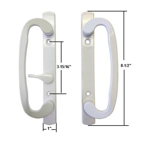 sliding glass patio door handles stb sliding glass patio door handle set mortise type white