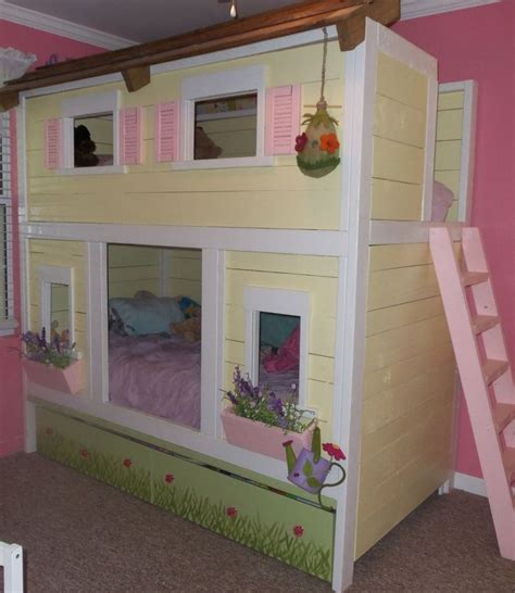 Play House Bunk Beds And Lylas Playhouse Bunk Bed I Like That Pinterest Plays Paint And The O Jays