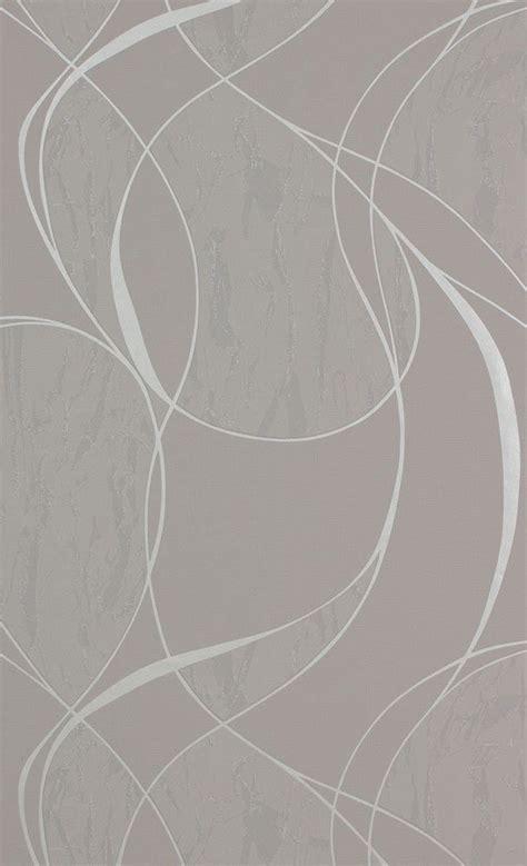 Tapisserie Grise by Papier Peint Gris Aux Lacets Avec Un Effet Mati 232 Re Argent 233