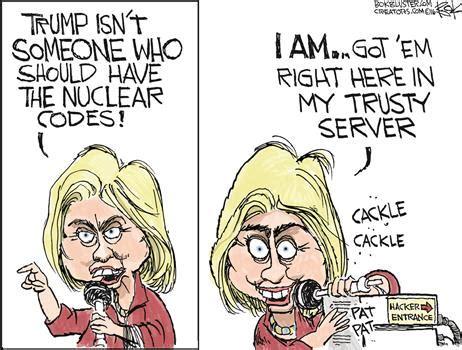 hillary political cartoons clinton trump real moral equivalence pondering principles