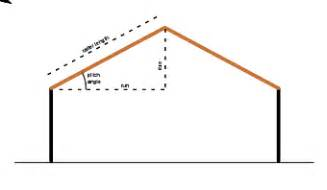 how to calculate roof pitch slope house roof