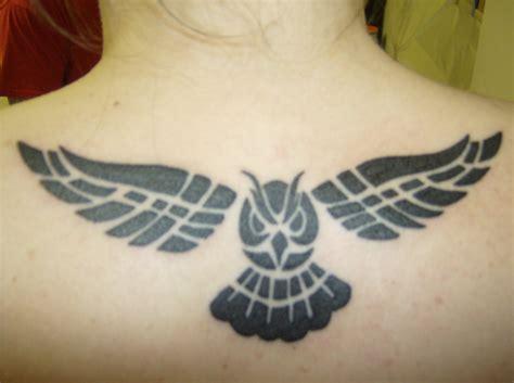 owl tattoo upper back owl upper back tattoo designs for girl