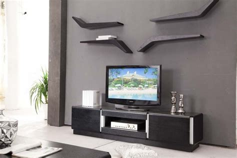 Decorating around a tv with decorative wall shelf   Decolover.net