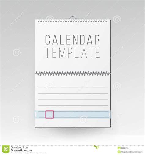 Spiral Calendar Vector Blank Office Calendar Mock Up Realistic Sheets Of Paper Empty Mock Up Mock Schedule Template