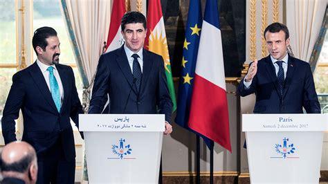 emmanuel macron kurdistan macron comes to kurdish leader s rescue after epic