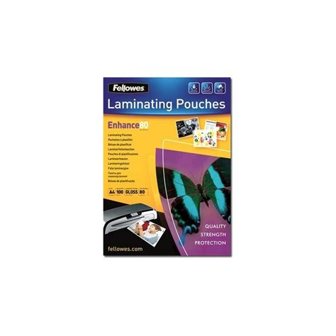 Plastik Laminating Folio Cover 100 Micron fellowes 80 micron 100 a4 210 x 297 mm lamination
