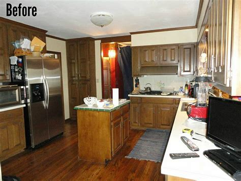 before after kitchen reno with painted cabinets home bunch interior design ideas