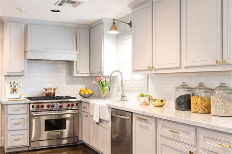 pale grey kitchen cabinets grey cabinets brass hardware design ideas