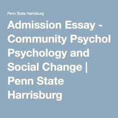 Penn State Admission Essay by School Spirit On Community Psychology Social Change And Penn State Nittany Lions
