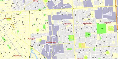 printable map adelaide suburbs city map adelaide vector urban plan adobe illustrator