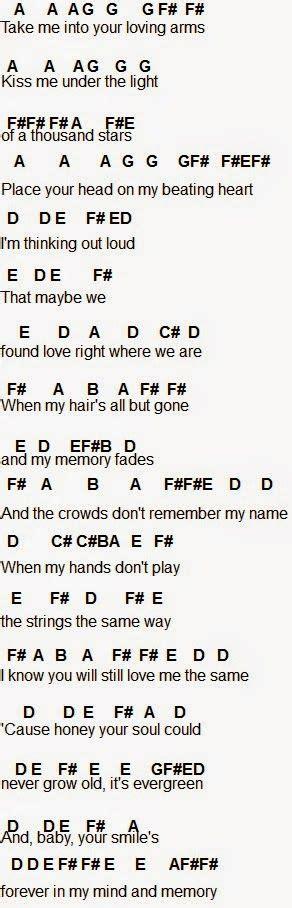 ed sheeran we found love chords flute sheet music thinking out loud music pinterest