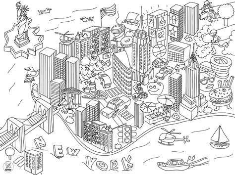 elegant new york city coloring pages with new york city