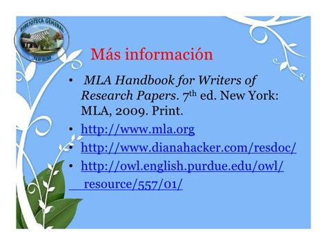 mla handbook for writers of research papers 7th edition pdf mla y acceso a recursos electr 243 nicos