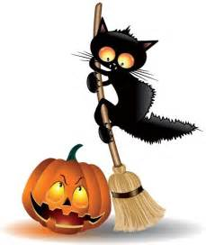 halloween black cats vector scarcy black cat with halloween pumpkin free vector