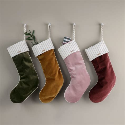 christmas velvet stocking by ferm living