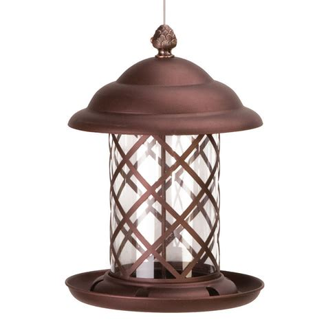 acorn top bird feeder copper birdfeeders plus