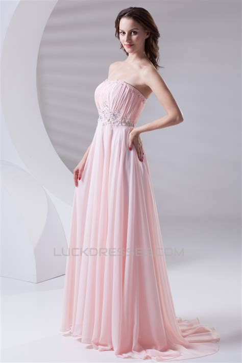 strapless beaded prom dress a line strapless beaded pink prom evening formal