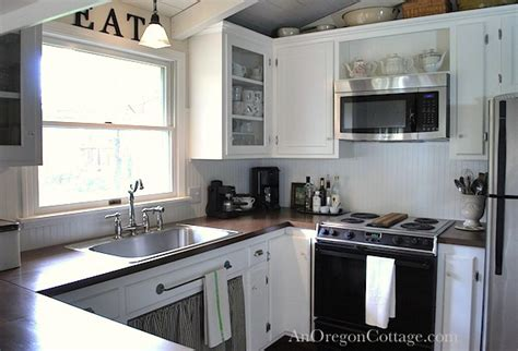 Glass Design For Kitchen Cabinets by Diy Kitchen Remodel From 80 S Ranch To Farmhouse Fresh