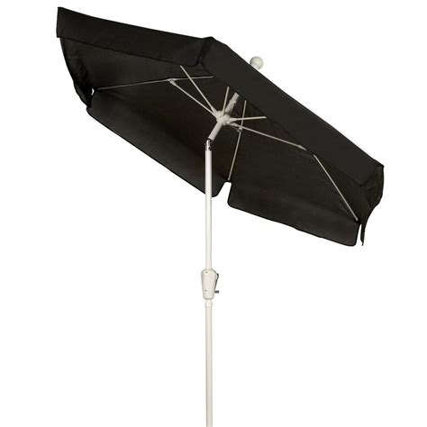 Black Patio Umbrella Fiberbuilt Umbrellas 7 5 Ft Patio Umbrella In Black 7gcrw T Bk The Home Depot