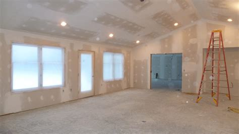 how to drywall a room drywall finished and all poly d for paint this morning quadomated