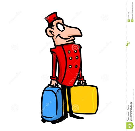 United Baggage Lost by Porter Luggage Bags Stock Illustration Image 47146113