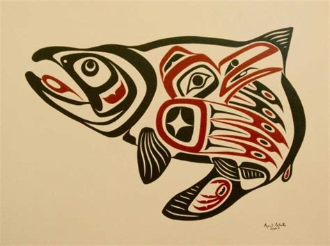 haida artist april white wins salmon stamp contest