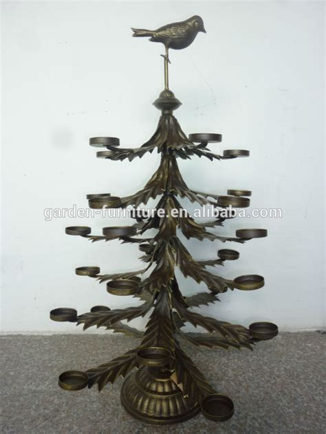 collectable 1970s metal christmas tree with candle holder on top antique home ornament wrought iron candle holder tealight tabletop metal tree