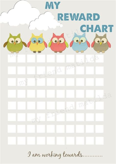 printable a3 reward charts 31 best images about sticker charts on pinterest toddler