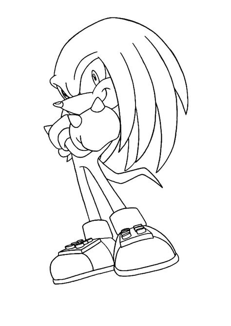 Knuckles The Echidna Coloring Pages knuckles the hedgehog coloring pages www imgkid