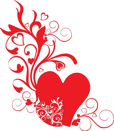 design bunga valentine ハートのイラスト 画像 無料素材no 195 レッドハート 茎葉 蔓