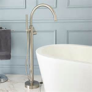 freestanding bathtub faucets linnea freestanding thermostatic tub faucet freestanding