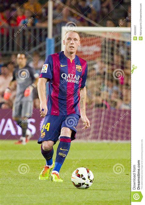 barcelona last match jeremy mathieu of fc barcelona editorial photography