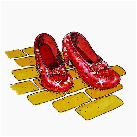 ruby slippers for pictures of slippers cliparts co