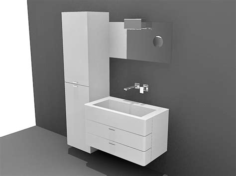 small bathroom vanity  cabinet  model  studiods