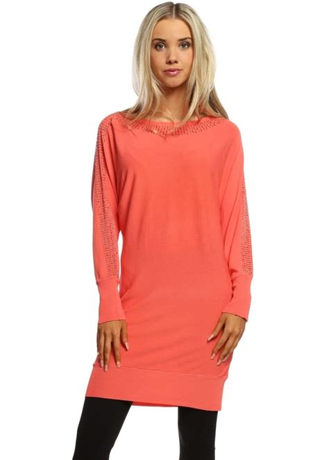 Leticia Tunic laetitia mem coral tunic jumper silver tunic jumper