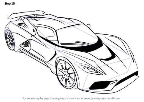 sports cars drawings learn how to draw venom f5 sports cars step by step