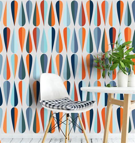 mid century wallpaper moonwallstickers - Mid Century Wallpaper