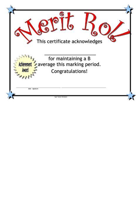 merit badge award card template merit roll certificate printable pdf