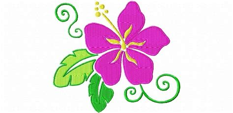 flower design images hawaiian flower machine embroidery design single