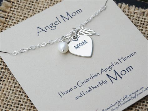 loss of mother memorial jewelry angel mom sympathy gift