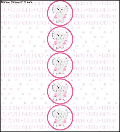 baby shower water bottle label template sle templates
